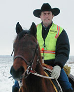 Terry Nowacki and his horse Stormy